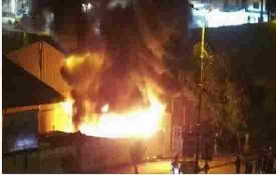 خیمه موکب های امام حسین (ع) در کربلا به آتش کشیده شد