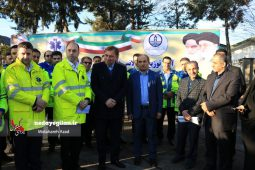 گزارش تصویری آئین الحاق 11 دستگاه آمبولانس به اورژانس گیلان
