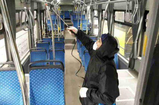 وسایل حمل و نقل عمومی شهر رشت هر روز ضدعفونی می شود