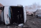 واژگونی اتوبوس در آذرشهر 23 کشته و زخمی برجای گذاشت