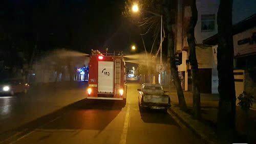 ۱۴ تیم آتش نشانی هر شب سطح شهر رشت را ضدعفونی می کنند
