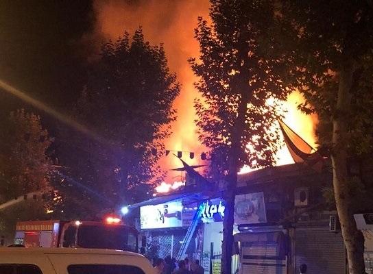 سربندی ۶ مغازه و یک خانه در آتش سوزی فومن دچار خسارت شد