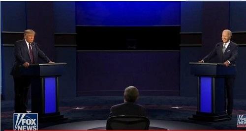 نمایش آمریکا دوقطبی و بی اخلاق در قاب تلویزیون/ترامپ:اگر ببازم نمی پذیرم/بایدن:خفه شو مرد!