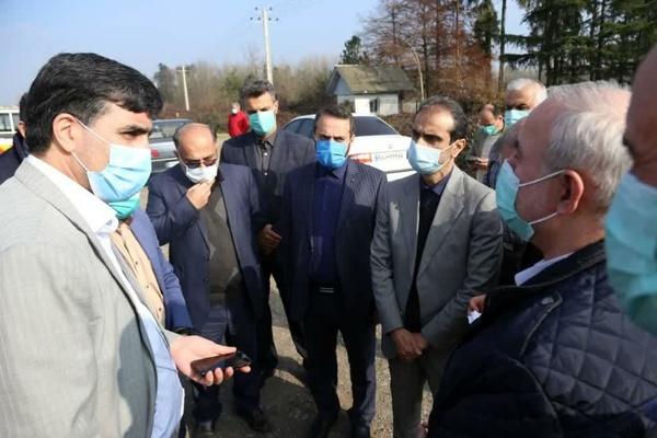 اجرای عملیات تعریض جاده لاکان از محدوده شهری تا میدان پروفسور سمیعی در محله پل طالشان