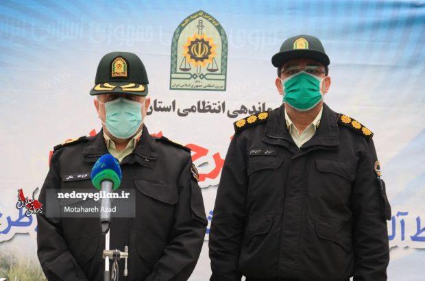دستگیری ۳۴۶ نفر و کشف ۲۵ سلاح در طرح یک روزه پاکسازی نقاط جرم خیز گیلان