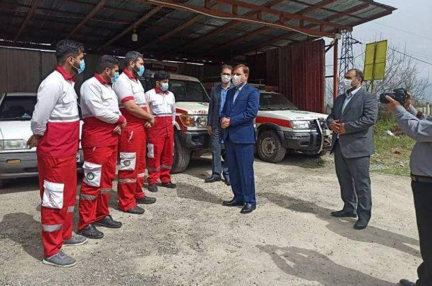 بازدید سرزده نوروزی استاندار گیلان از پایگاه های امداد و نجات جمعیت هلال احمر استان گیلان