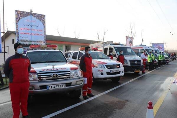 اعزام ۷۸ تیم امداد و نجات هلال احمر گیلان به ۶۹ مورد حادثه