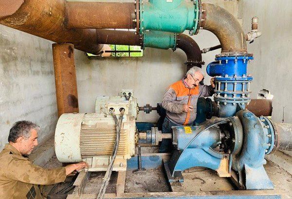 پیشرفت فیزیکی ۹۵ درصدی ایستگاه پمپاژ اشمک به چپک چکه در شهرستان رشت