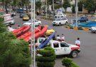 رژه خودرویی و مانور آبی و خاکی «سیلاب» در لاهیجان