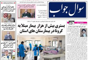 صفحه اول روزنامه های گیلان ۶ مرداد ۱۴۰۰