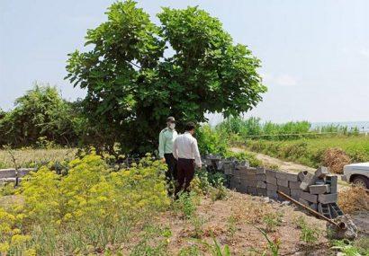 رفع تصرف اراضی ساحلی و حریم کانال آبیاری در شهرستان های لاهیجان و لنگرود