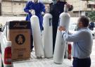 اهدای ۱۱۰کپسول اکسیژن به بیمارستان آستارا